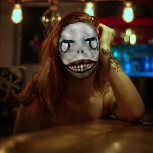 LED Party Face Mask - Girl