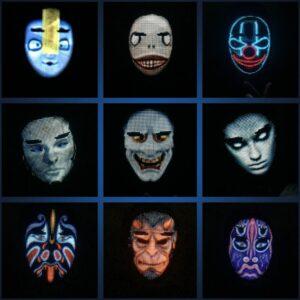 LED Party Face Mask