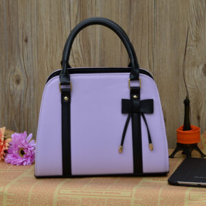 Womens Fashion Handbag With Bow - Blue