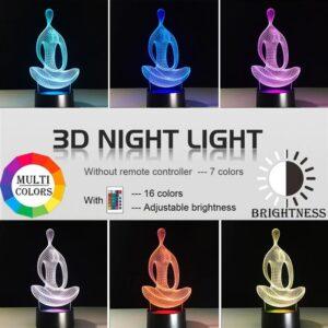 3D Yoga Night Light